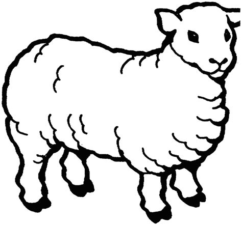 Free White Sheep Cliparts, Download Free Clip Art, Free ... Lamb Black And White Clipart
