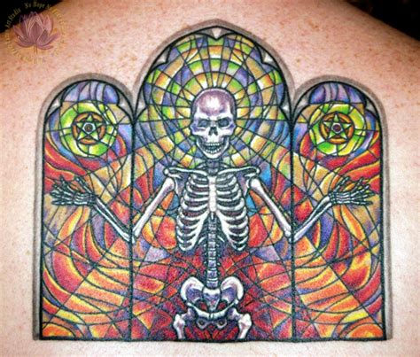 stain glass tattoo kern small tattoos no no fear studio