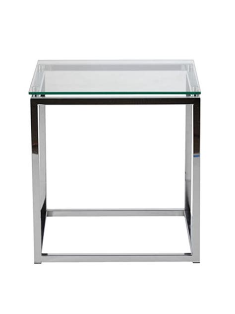 glass and chrome side table chrome glass side table brickell collection modern furniture