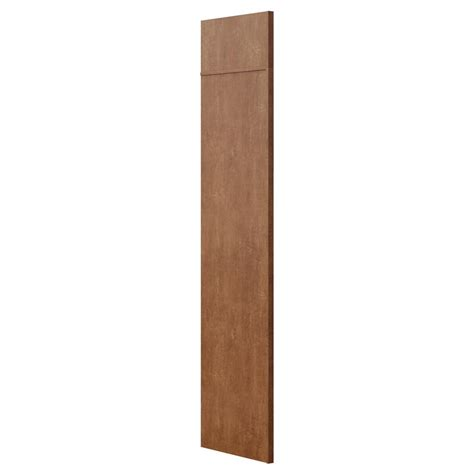 cabinet end panel skins hton bay 1 5x84x24 in refrigerator end panel in cognac