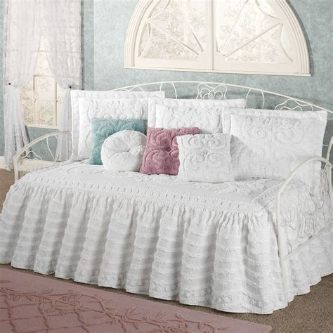 daybed bedding sets for intrigue chenille ruffled flounce daybed bedding set