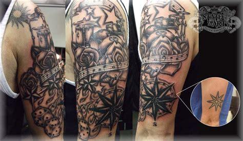 new school tattoo sleeve ideas new school sleeve by state of art tattoo on deviantart