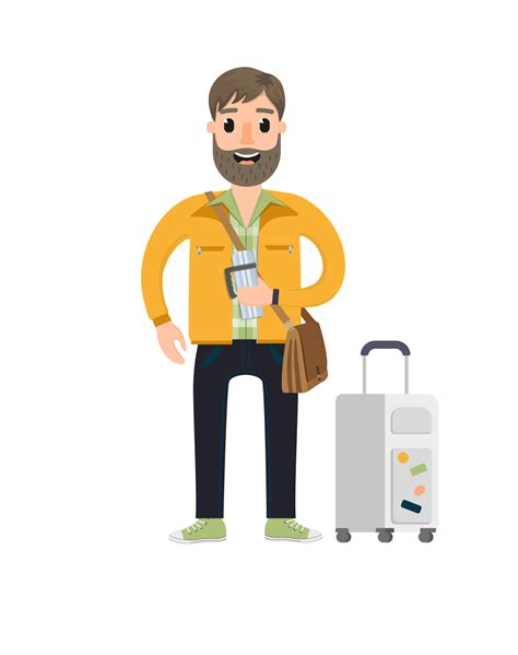 This Characters - travel vector character set vector characters