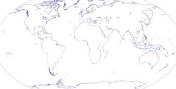 Outline Of Continent by World Map Outline