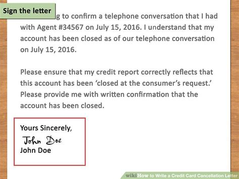 letter requesting cancellation of credit card how to write a credit card cancellation letter with pictures