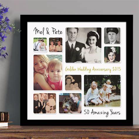 Wedding Anniversary Photo Ideas by Personalised Golden Wedding Anniversary Photo Collage