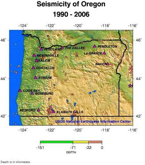 map of oregon earthquake zones seismic facts figures fault line contractors