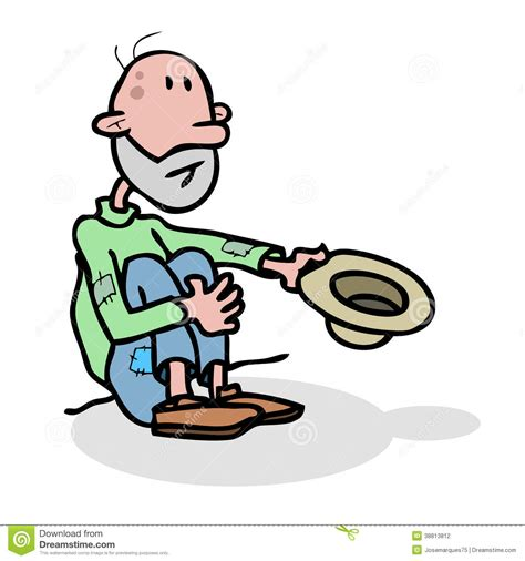 Beggar Homeless Stock Illustration   Image: 38813812