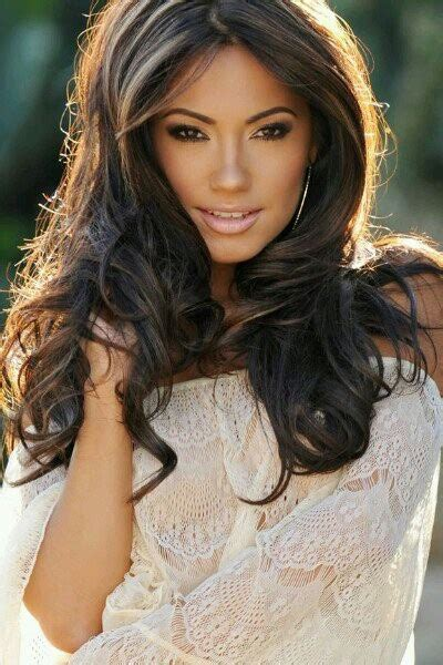 whats a great hair color for hispanic women love her hair and high lights gorgeous mexican american