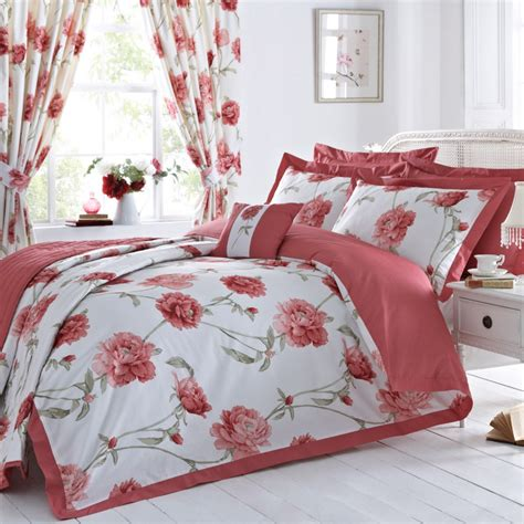 red floral bedding arley floral design oxford duvet cover set red