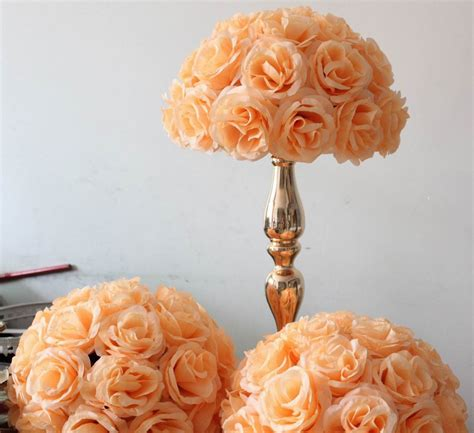 artificial flower centerpieces for wedding free shipping wedding table centerpiece decoration artificial flower 35cm wedding silk