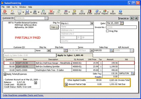 sle invoice memo peachtree learning sales returns