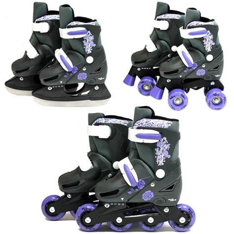 Zone 3in1 sk8 zone 3in1 inline pro roller skates skating boots