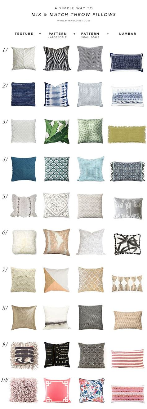 how to mix and match pillows on a sofa a simple way to mix and match throw pillows throw