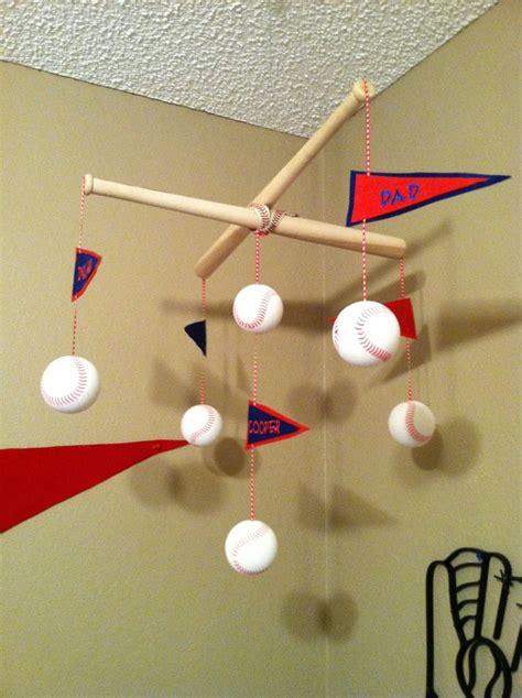 Handmade Baby Mobile Ideas - baseball baby mobile diy baseball