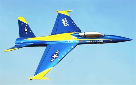 electric ducted fan jets rc plane edf ucav 101mm electric ducted fan rc airplane blue kit
