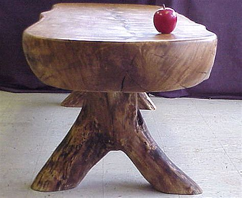 chunk of an oak log coffee table
