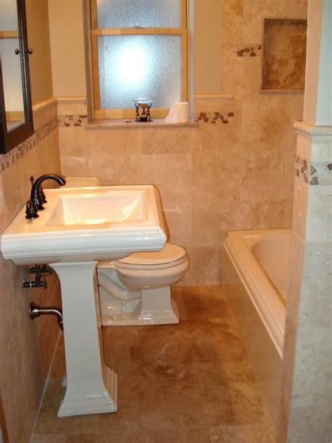 bathroom tile wainscoting tiled waincoating travertine tile bathroom st louis
