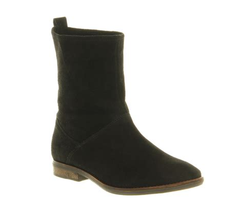 womens office black suede boots ebay