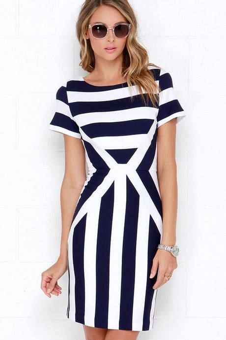 On The Hunt For An L Dress by Navy Blue And White Dress