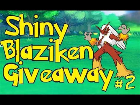 Free Shiny Pokemon Giveaway - huge shiny gts pokemon giveaway 200x shiny blaziken oras x y gts youtube