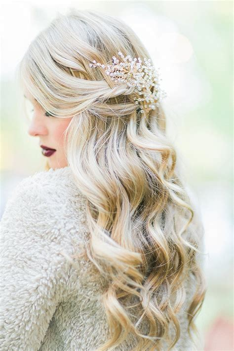 Wedding Hairstyles Wavy Hair by Fall Wedding Inspiration Grace