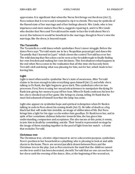 a doll house act 1 summary doll house act 4 essay websitereports243 web fc2 com