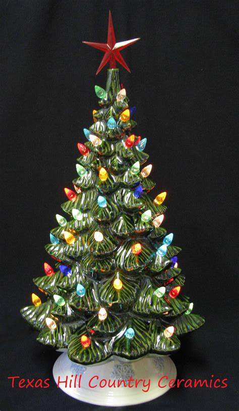 ceramic christmas trees in wichita falls tx 19 inch vintage ceramic tree with electric lights flickr photo