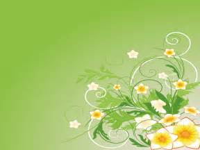 green abstract flowers ppt backgrounds abstract flowers