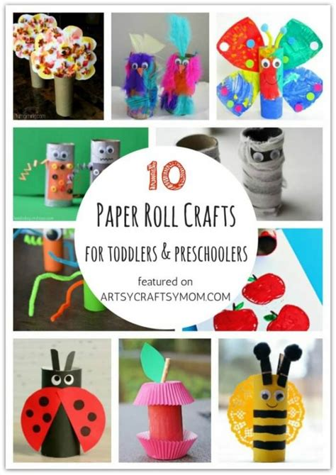 Paper Roll Crafts For Preschoolers - ultimate list of 100 crafts and activities for toddlers