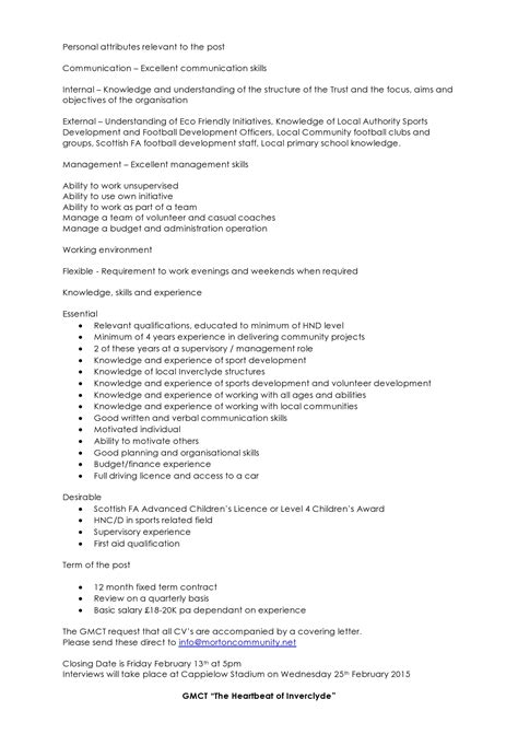 Project Manager Description Sle Resume Project Coordinator Resume Sle Construction 28 Images Construction Quality Manager Resume