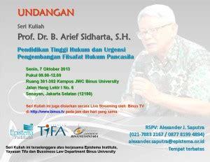 Media Pendidikan Dr Arief S Sadiman epistema institute seri kuliah prof b arief shidarta