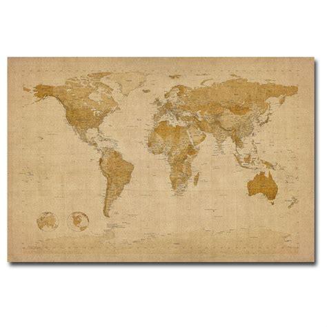 michael tompsetts antique world map canvas wall art