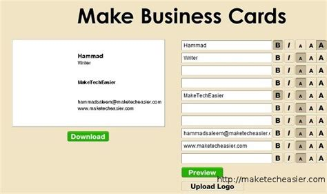 make business cards free 6 tools to create business cards