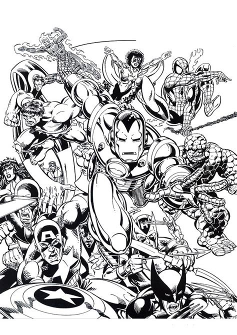 coloring pages comic book characters kids n fun com 60 coloring pages of iron man