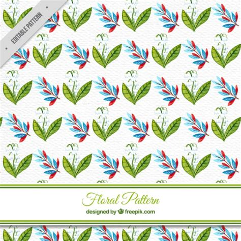 watercolor flowers pattern vector free download decorative pattern of watercolor flowers vector free