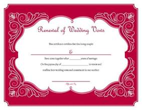 vow renewal certificate template free printable renewal of wedding vows certificate i