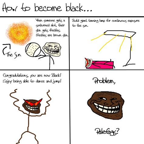 Troll Physics Meme - how to become black png