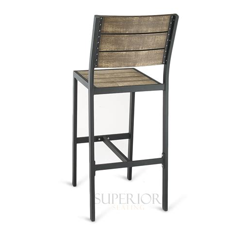 restaurant outdoor bar stools black aluminum outdoor restaurant bar stool with synthetic