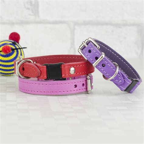 Handmade Cat Collars - handmade italian leather cat collar by petiquette collars