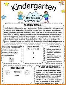5 kindergarten newsletter template assistant cover letter