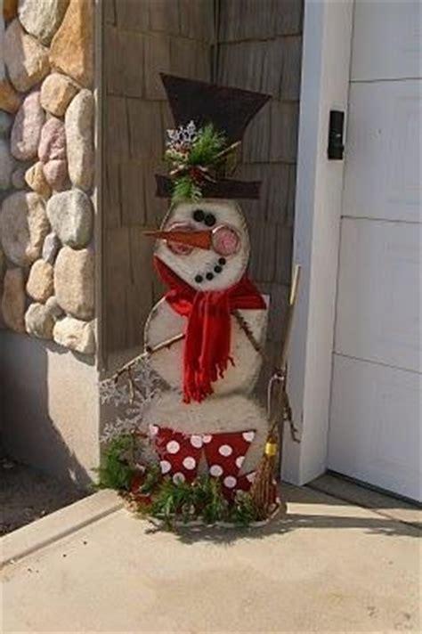 diy snowmantoo cute cassie           wood christmas