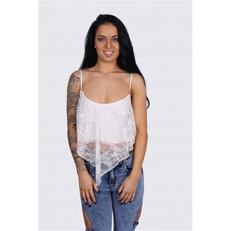 Lace Cropped Top white lace cropped top parisia fashion