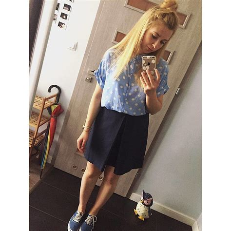 Blouse Mathylda Top matylda primark dots shirt mohito navy blue skirt