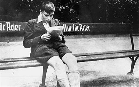jewish benching ushmm artifact gallery boy sitting on a bench