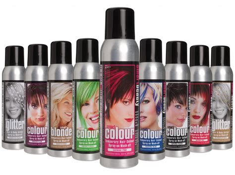 temporary hair color spray smart colour temporary hairsprays instant colour change