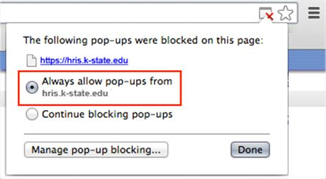 chrome pop up blocker importance of markup hastac