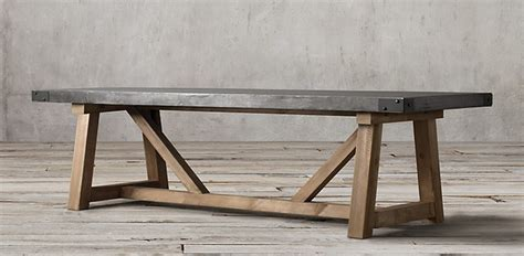 salvaged wood concrete beam rectangular table