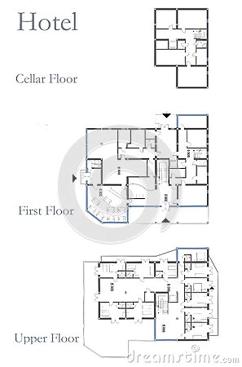 hotel layout drawing hotel drawing plan stock images image 31400814