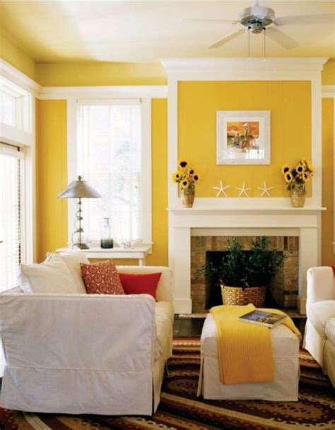 Living Room Yellow Color Scheme Living Room Colors Casual Cottage